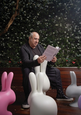qeeboo rabbit chair by stefano giovannoni ambience